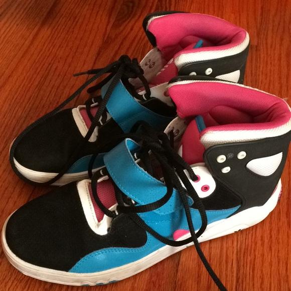 Adidas zapatos High Top tamaño 10 pink AZUL negro poshmark